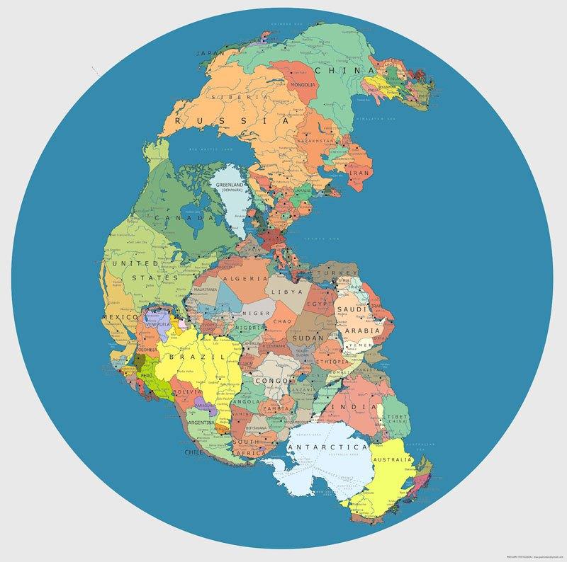 Pangejas kontinents mūsdienās